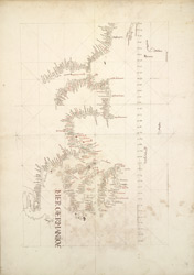 Portolan Chart Showing Outline of British Isles f. 79